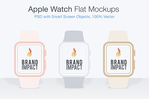 Flat Apple Watch Mockup