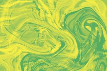 Splash of green and yellow paint