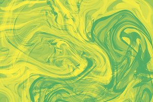 Splash of green and yellow paint