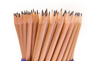 many of Lead pencils isolate