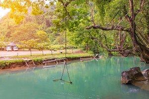 Blue Lagoon at pukham cave