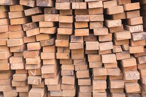 Firewood stacked up