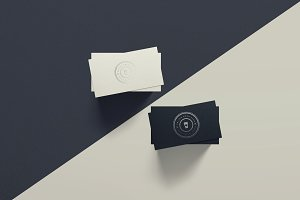 Spot UV Business Card Mockup - DUO