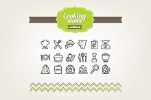 Hand drawn cooking icons