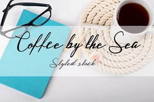 COFFEE BY THE SEA STYLED STOCK