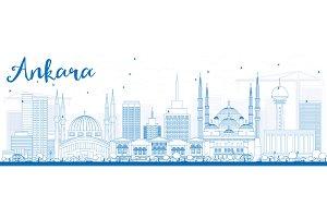 Outline Ankara Skyline