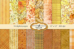 Warm Fall Digital Paper Pack