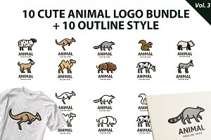 Cute Animal Logo Bundle Vol 3