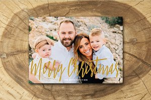 Christmas Card Template 022