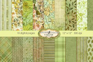 A New Fall Digital Paper Pack