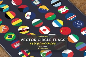 230 Vector Circle Flags