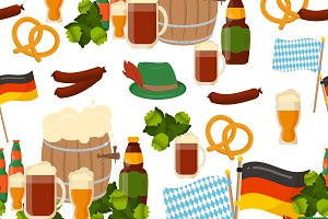 German festival seamless pattern
