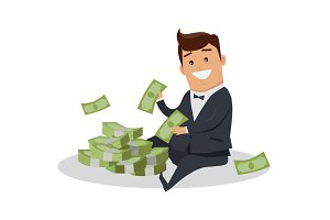 Man Character With Money