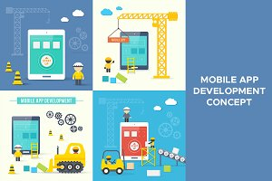 Mobile app development concept