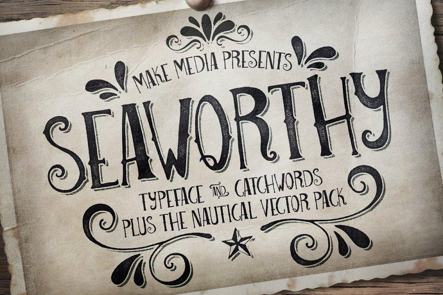 Seaworthy Typeface & Nautical Pack ~ Fonts ~ Creative Market