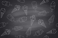 Seamless pattern with ice cream