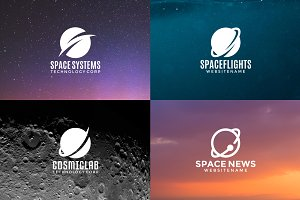 Set of space logos