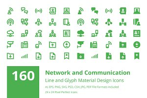 160 Network and Communication Icons