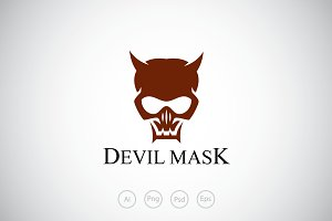 Devil Skull Mask Logo Template