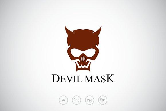 devil skull mask logo template logo templates creative market