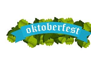 Festive Oktoberfest Banner vector