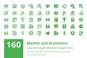 160 Market and Economics Icons