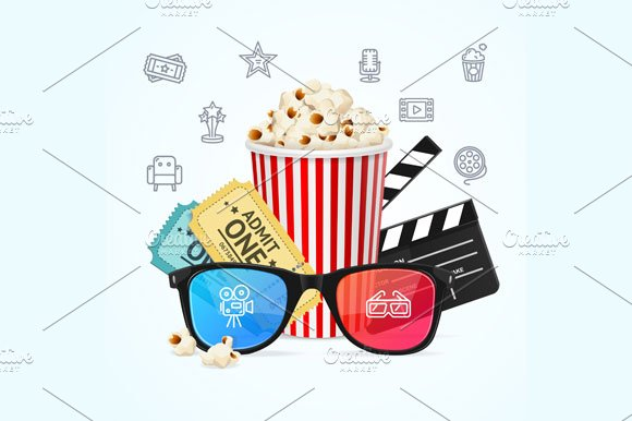 Cinema Concept. Vector - Illustrations