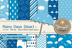Umbrella Digital Papers & Cliparts