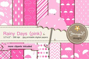 Umbrella Digtial Papers & cliparts