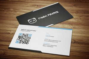 Clean QR Code Business Card #4