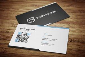 Clean QR Code Business Card #4