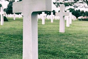 White crosses in American Cemetery