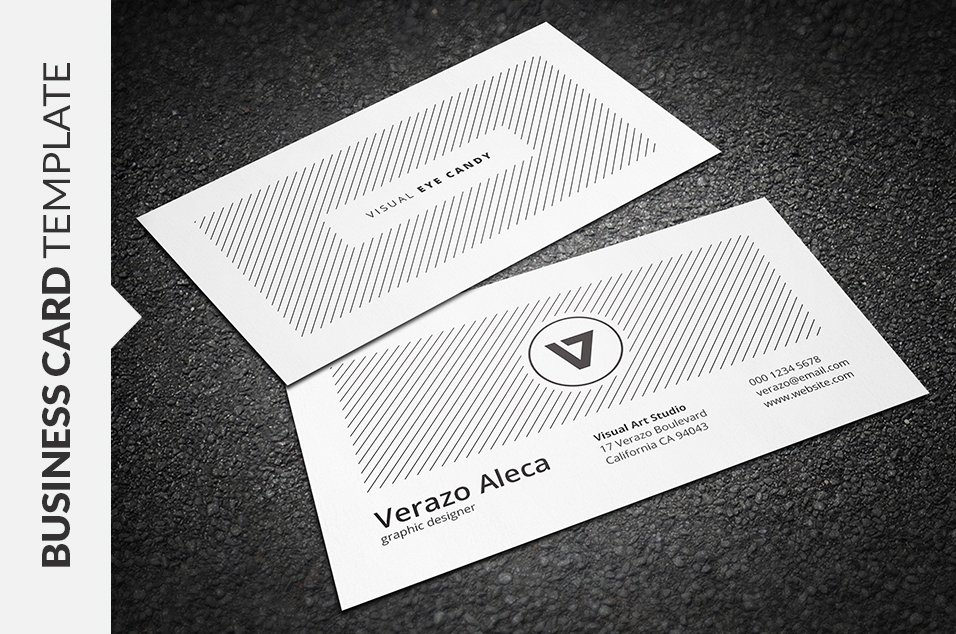 Clean & Simple Business Card ~ Business Card Templates ~ Creative Market