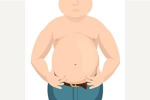 Abdomen fat, overweight