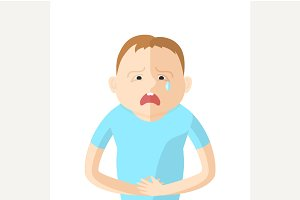 Children have an abdominal pain