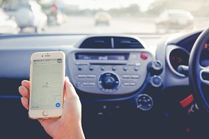 Using Google Maps in the car