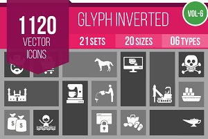 1120 Glyph Inverted Icons (V6)