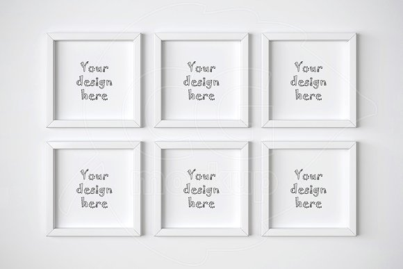 Set Of 6 Square Frame Mockups Product Mockups Creative Market