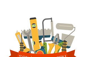 Сonstruction tools vector equipment