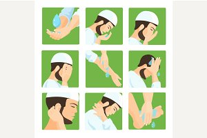Muslim ablution, purification guide