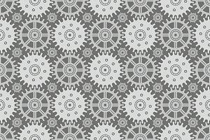 Seamless pattern of gears