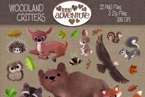 Woodland Critters - Digital Clipart