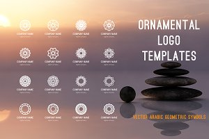 Ornamental logo templates set