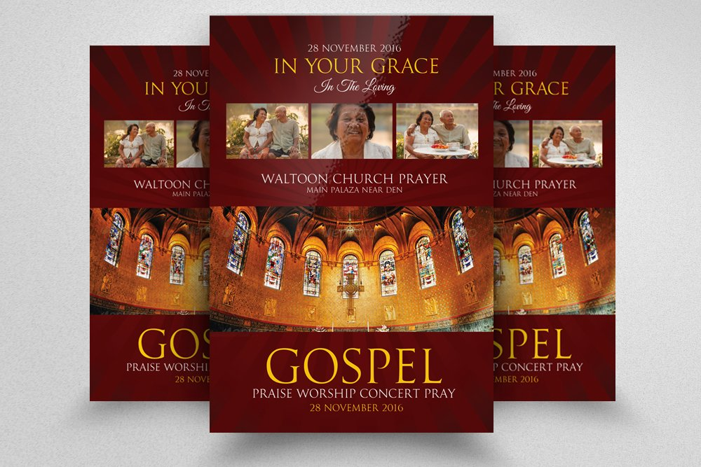 Gospel Church Flyer Template Flyer Templates Creative Market
