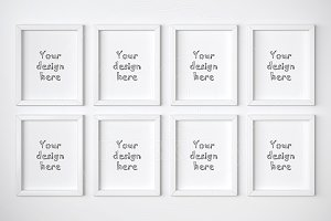 Set of 8 basic frame mockups