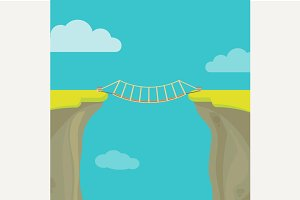 Abyss, gap with bridge