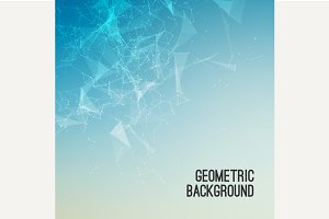 Geometric abstract mesh background