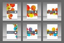 Vector cover design bubble