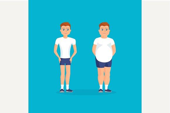 Abdomen and athletic men