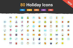 80 Holiday Icons